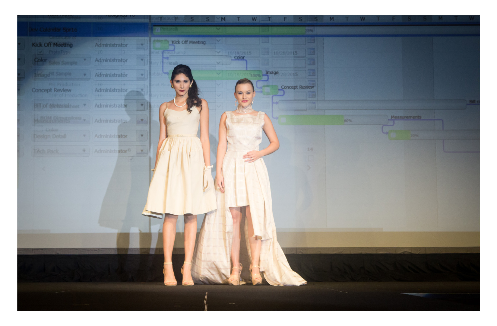 Fashion Show 4: Design students use Gerber software to create modern versions of vintage dresses