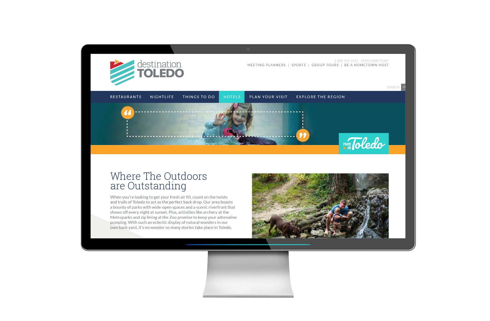 Campaign Landing Page for Outdoors