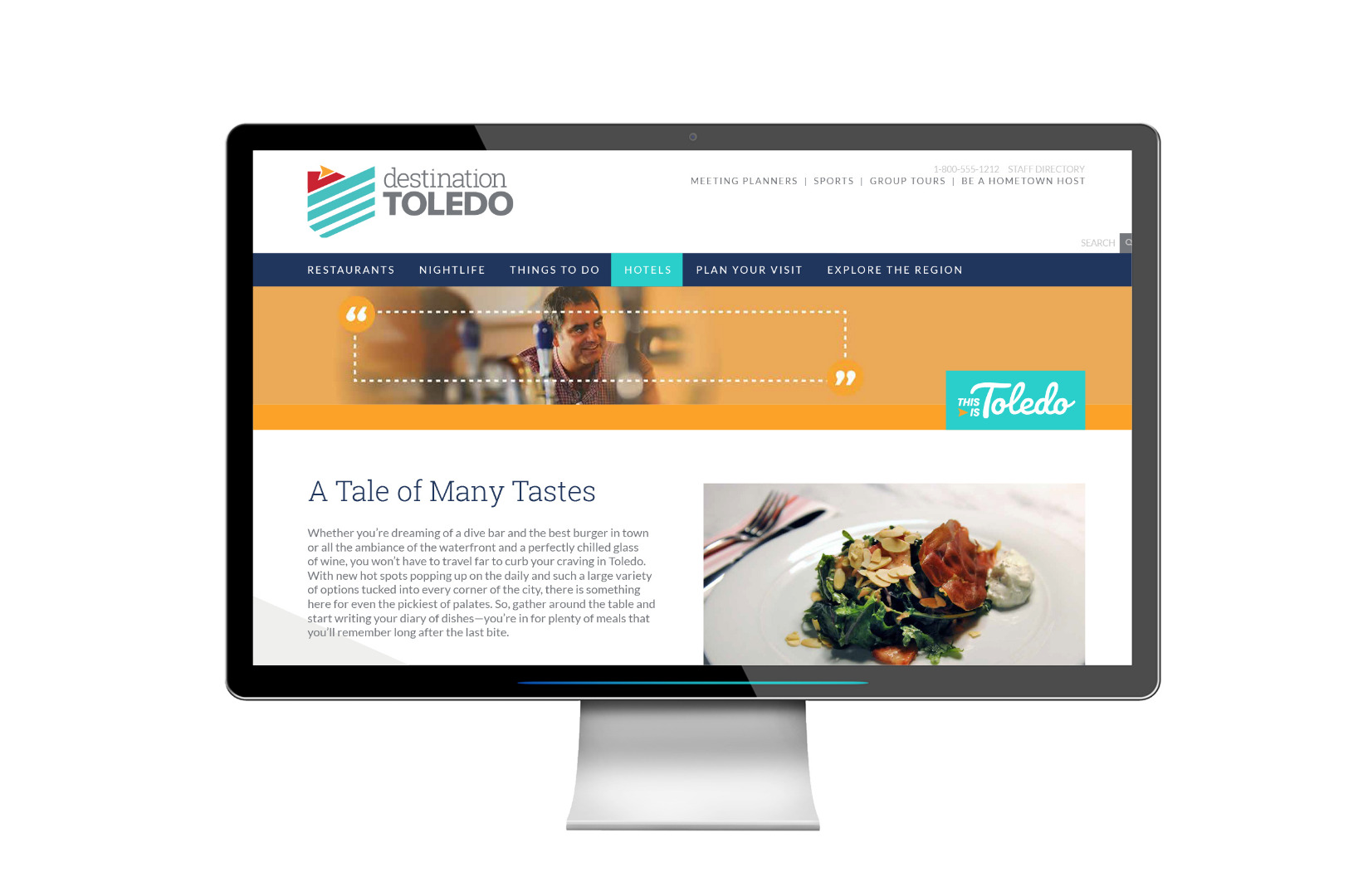 Campaign Landing Page for Dining